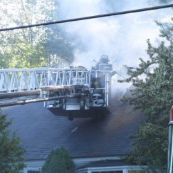 Fire damages home across from Gray town office