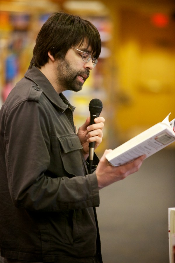 Author Joe Hill reads from his latest novel, &quotNOS4A2,&quot at Books a Million in South Portland Saturday. Hill, whose real name is Joseph Hillstrom King, is the son of Stephen and Tabitha King.