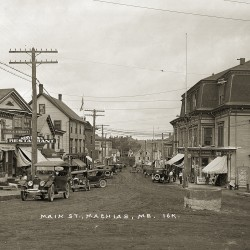 Main St. Machias; Circa 1920 from the Eastern Illustrating & Publishing Co. Collection, Penobscot Marine Museum