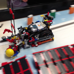 "This robot built with Lego components by a team of Connors Emerson Elementary School students from Bar Harbor recently won a national competition held at Legoland in Carlsbad, Calif. Months of design and testing went into the ""bots"" creation."
