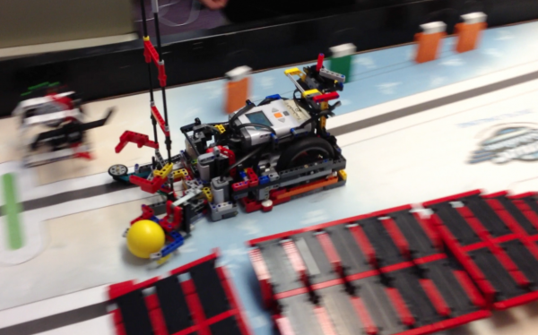 This robot built with Lego components by a team of Connors Emerson Elementary School students from Bar Harbor recently won a national competition held at Legoland in Carlsbad, Calif. Months of design and testing went into the &quotbots&quot creation.