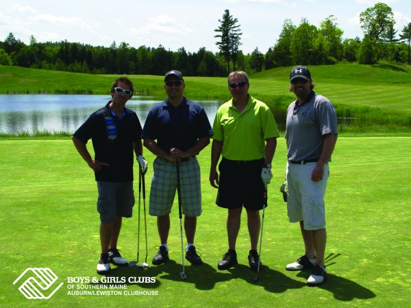 Major event sponsor Mechanics Savings Bank played in Thursday's golf classic to benefit Boys & Girls Clubs of Southern Maine's Auburn/Lewiston Clubhouse.