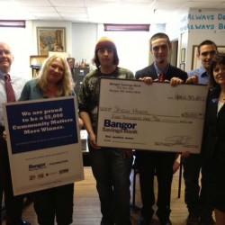 Bangor Savings Bank Presents a $5,000 Check to Shaw House
