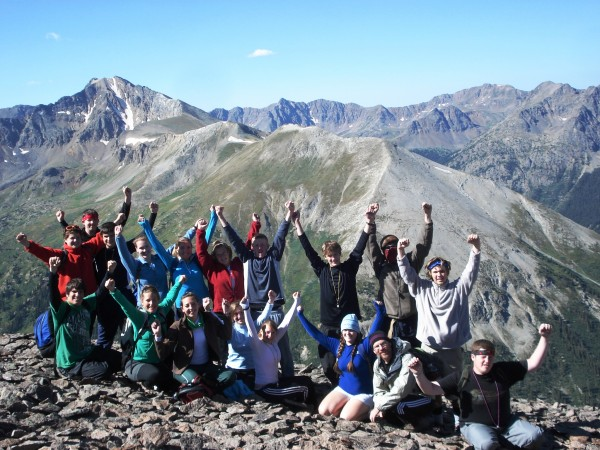 Trekkers' preventive youth mentoring services include outdoor-based experiential education. Shown above are students and mentors during a Cross-America Expedition in Colorado.