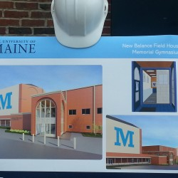 The new look of the renovated University of Maine field house is shown in designs by architect David Lay of SMRT Inc. The renovations will be competed in October.
