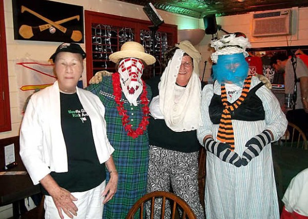 Mummers attend last year's Newfoundland Day. Mummers are people secretly picked from the audience who dress up and dance while others try to guess who they are, a spin-off of a Newfoundland Christmas tradition. This year's event is being held June 1 at the Poland Spring Resort.