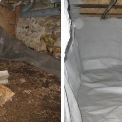 Encapsulation totally transforms dank, wet basements into dry, usable spaces.