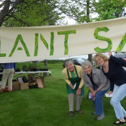 Camden Garden Club members (from left) Kris Mikkelsen, Gaby Wicklow and Maureen O'Donnell at last year's Plant Sale.