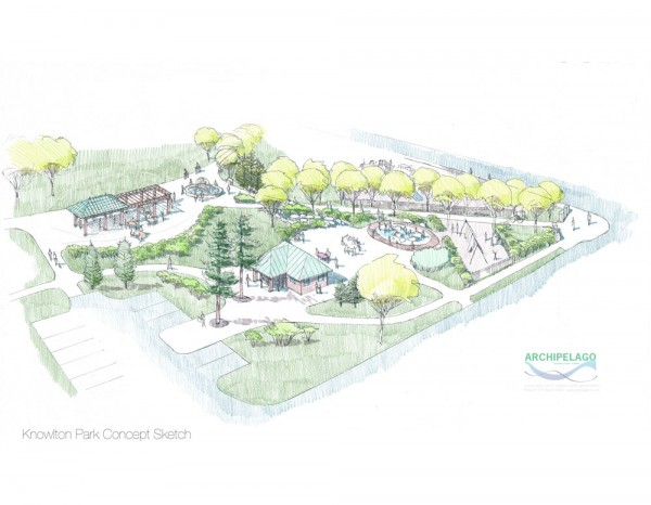 This design sketch shows many of the new features planned for Knowlton Community Park in Ellsworth.