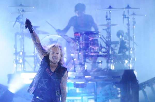 Vince Neil of Motley Crue rocks out at the first show of 2013 at the Darlings Waterfront Pavilion on Thursday.