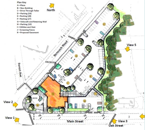 Proposed site plan for Katahdin Redevelopment Site.