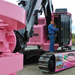 Pink feller buncher to raise funds for, awareness of cancer