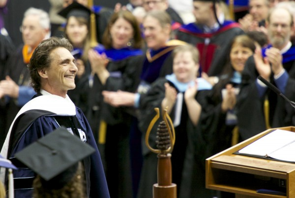 Lawrence Bender, UMaine alumnus and producer of Academy Award-winning films, was the 2013 University of Maine, Orono commencement speaker Saturday, May 11 2013.