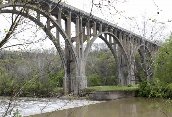 The Brecksville-Northfield High Level Bridge is seen near Brecksville, Ohio, in this May 1, 2012 file photo.