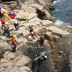 Orono man injures his back in 20-foot fall while ice climbing in Acadia National Park