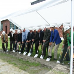 College breaks ground on new biomass boiler aimed at saving costs, educating