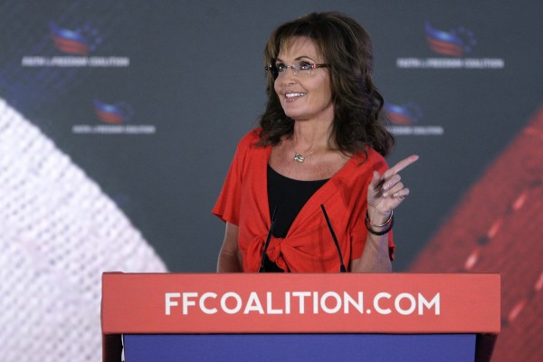 Former Alaska Gov. Sarah Palin (R-AK) addresses the Faith & Freedom Coalition Road to Majority Conference in Washington June 15, 2013.