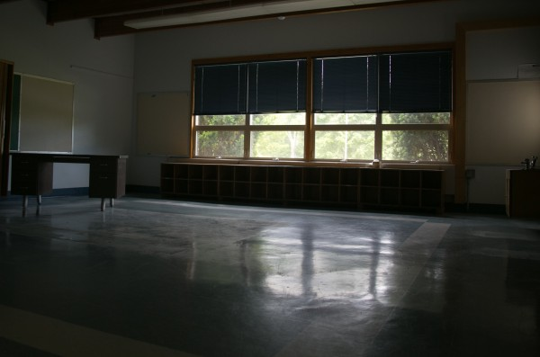 classroom  at Frankfort Elementary lays empty on Friday, June 21, 2013