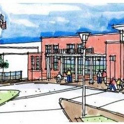 This drawing depicts what the front entryway to Freeport High School would look like after a proposed nearly $17 million renovation project is complete. Voters in the Regional School Unit 5 towns of Freeport, Durham and Pownal will decide whether to support the project at the polls Tuesday.