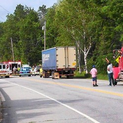 Bikers trek on after cyclist killed in collision with tractor-trailer