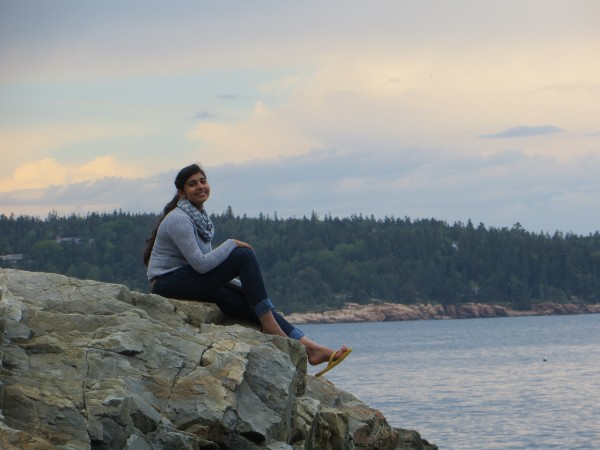 Aqsa Munir, an exchange student from Pakistan who attended high school in Hampden this year, spent her final weekend in the U.S. out on the Cranberry Islands.
