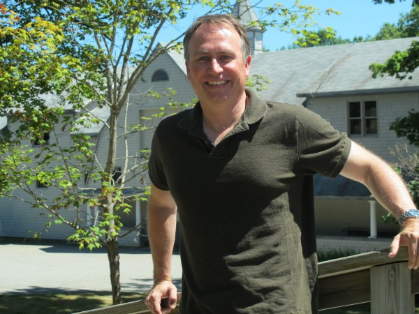 Paul Doiron, author of &quotBad Little Falls&quot and two other Mike Bowditch thrillers, poses for a photo at the headquarters of Down East magazine, where he is editor and chief.