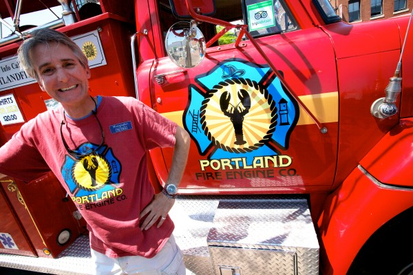 Keith Nuki runs the Portland Fire Engine Co., which offers guided tours of the city atop a 1971 fire truck.