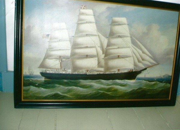 The Sagadahoc County Sheriff's Department is looking for this antique oil painting, reported stolen from a Woolwich residence last week, believed to have been painted by or attributed to William Yorke.