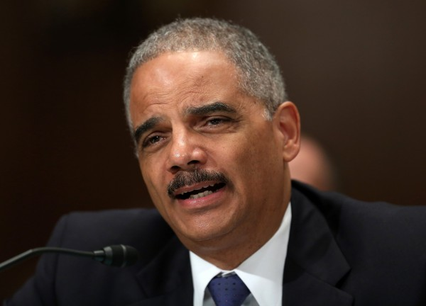 U.S. Attorney General Eric Holder testifies before a Senate Appropriations Commerce, Justice, Science and Related Agencies subcommittee on the Justice Department's FY2014 Budget Request in Washington June 6, 2013.