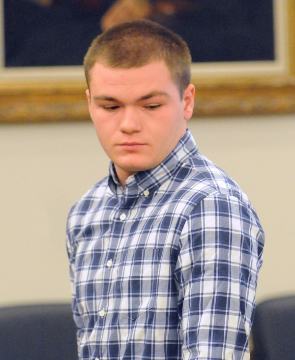 Kyle Dube, 20, at the Penobscot Judicial Center Wednesday morning.