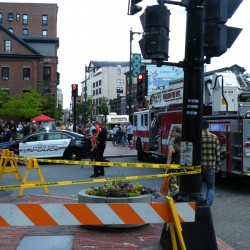 Portland police block off High Street after reports of falling bricks