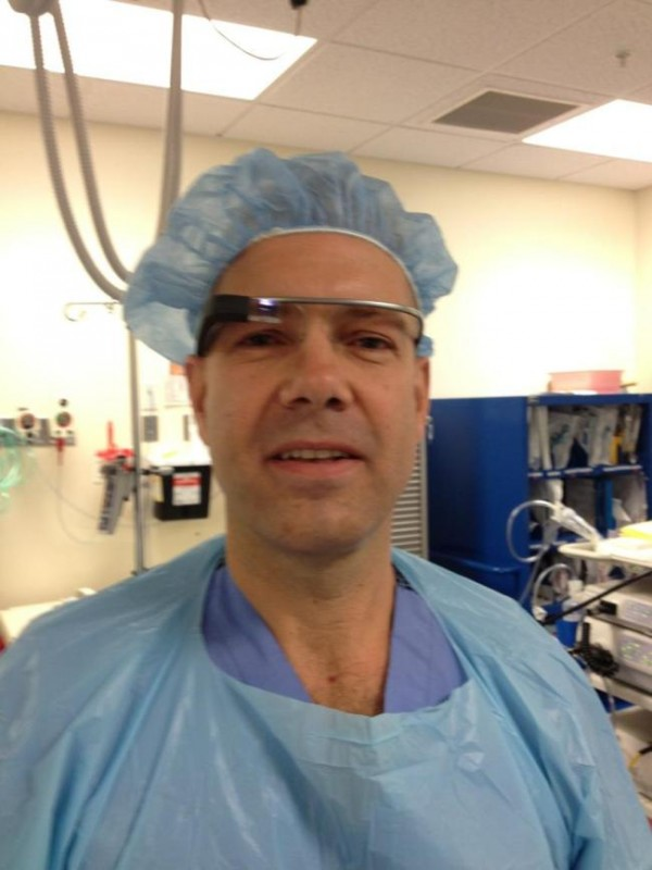 Dr. Rafael J. Grossmann, a trauma surgeon at Eastern Maine Medical Center in Bangor, is testing Google Glass, a wearable computer with an optical head-mounted display.