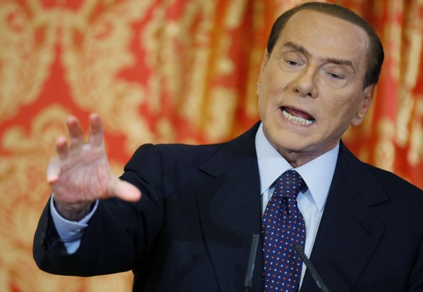 Italy's former prime minister Silvio Berlusconi speaks during a news conference at Villa Gernetto in Gerno near Milan in this October 27, 2012 file photo.