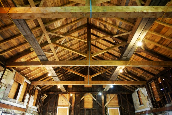 Lighter colored wood marks restoration efforts at the 185-year-old Abyssinian Meeting House in Portland, which was built before the Civil War by free African Americans. It has been listed as one of the National Trust for Historic Preservation's 11 &quot€œMost Endangered Historic Places.&quot