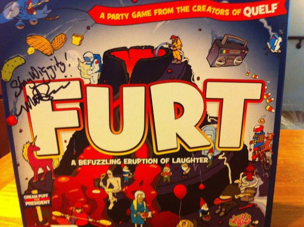 Furt, which bills itself as &quota befuzzling eruption of laughter in a box,&quot is the most complicated. It might also be the most fun, in part because there really aren't any rules - you have to figure it out as you play. The only thing that's clear is that players are racing to be the first into the mouth of a fiery volcano.