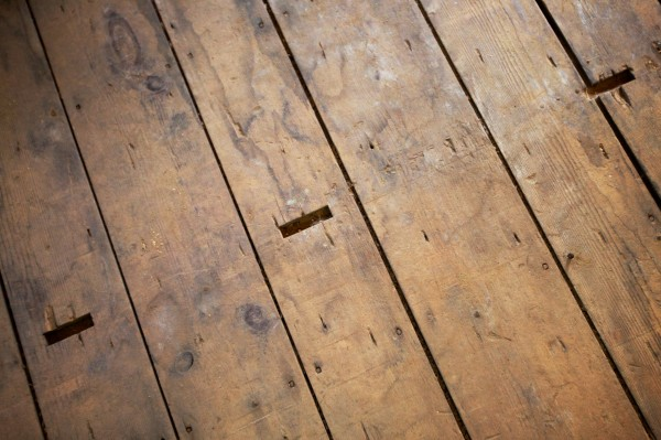The original pine floor still bears marks from rows of pews at the 185-year-old Abyssinian Meeting House in Portland, which was built before the Civil War by free African Americans.