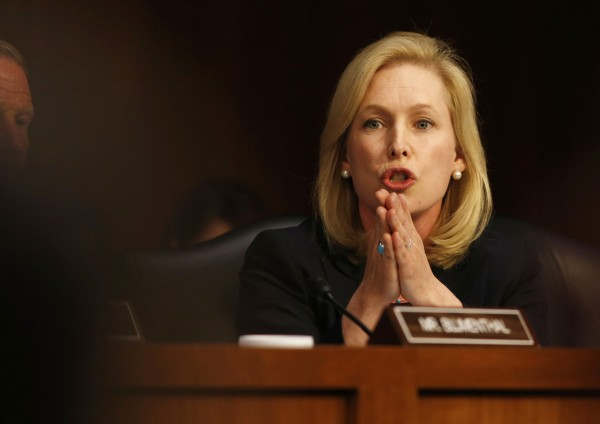 U.S. Sen. Kirsten Gillibrand speaks about pending legislation regarding sexual assaults in the military at a Senate Armed Services Committee on Capitol Hill in Washington, June 4, 2013.