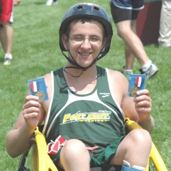 Fort Kent athlete surprised with new racing wheelchair