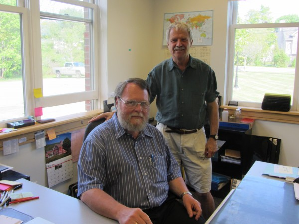Friday was the formal transition day for the Rockport's planning office. Bill Najpauer (left) is the town's new planning and community development director. He succeeds Tom Ford (right) who worked his final day Friday after 13 years.