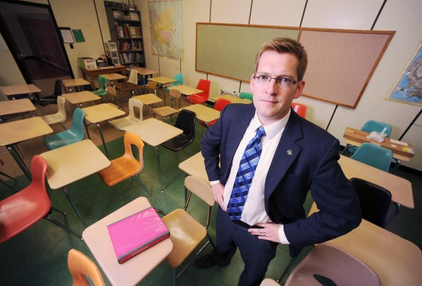 Ben Sprague, a 2002 Bangor High School graduate and Bangor City Councilor, is one of 26 students that year to receive the Superintendent's Award. Today, he is the only one of those recipients living in Bangor and one of just two or three living in Maine. He says he's worried about young people leaving Bangor and would like to see more of them return to the Queen City to work and raise families.