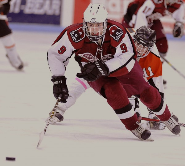 Bangor High School hockey standout Parker Sanderson is headed to Walpole, Mass., to play for the Express, a Junior amateur hockey team.