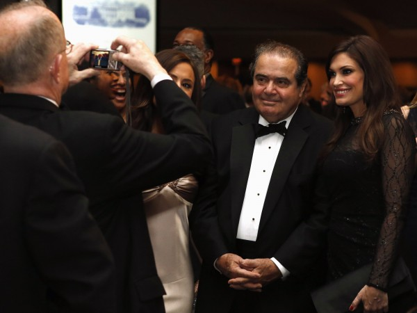 U.S. Supreme Court Justice Scalia attends the White House Correspondents Association Dinner in Washington April 27, 2013.