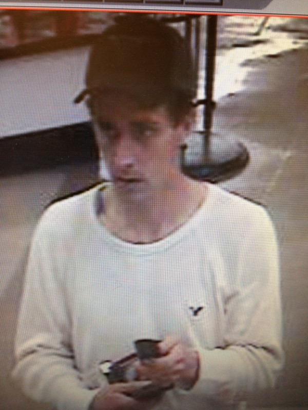 Bangor police are looking for a man, captured on Hannaford grocery store surveillance cameras, who they believe walked out of the Airport Mall store without paying for two packages of razors valued at $68.76. The man took off the white American Eagle shirt and Texas Longhorns baseball cap he was wearing after leaving the store.