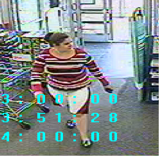 Bath police say this woman is a suspect in a robbery of the Walgreens Pharmacy just before 2 p.m. Friday.