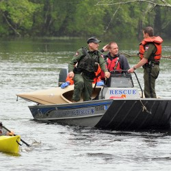 Old Town rescue boat sinks during training