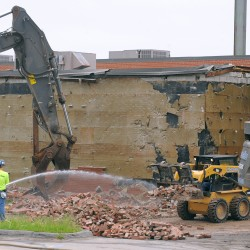 Time lapse of the old Bangor Auditorium's demolition