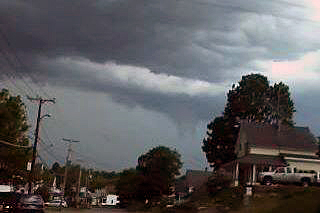 A tornado funnel cloud forming over Millinocket was photographed by Arielle Smith as she drove home from work on Sunday, June 2, 2013.