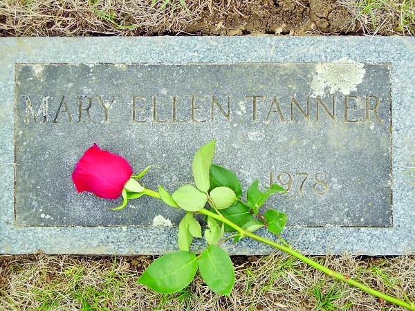 The Biddeford grave of Mary Tanner, who was found beaten to death 35 years ago in Lyman. Her murder remains unsolved.