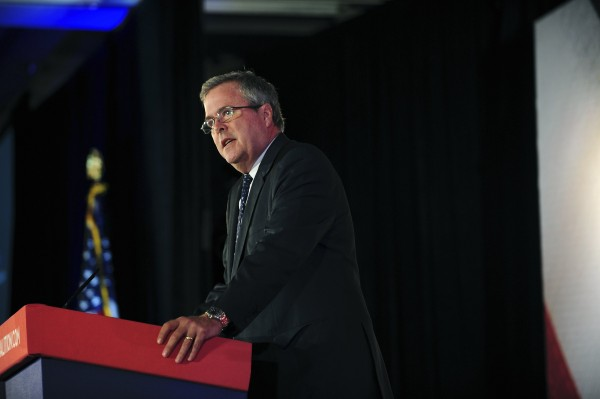 Former Florida Governor Jeb Bush speaks during the Faith and Freedom Coalition Road to Majority Conference at the J.W. Marriott Hotel in Washington, June 14, 2013.