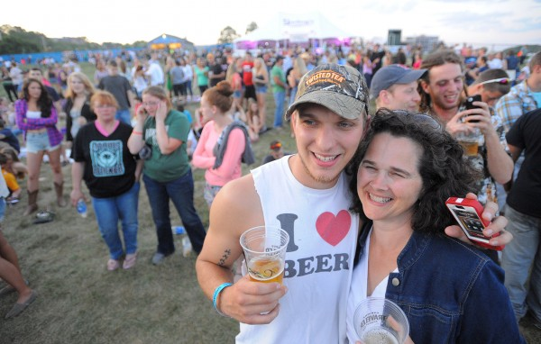 Jake Wright poses for a photo with his mother, Helen Wright, who drove from Gardiner to see the Darius Rucker concert with Jake, who lives in Bangor.  &quotWe are chillin' at Darius but miss Hootie and the Blowfish,&quot said Jake, referring Rucker's previous band.